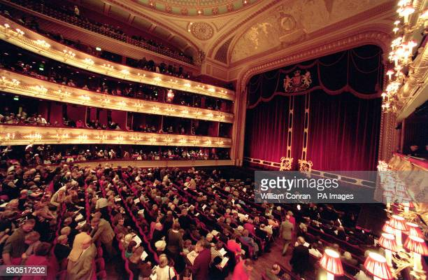 A shot of the audience in their seats at the Royal Opera House in London before a performance of 'Ondine'