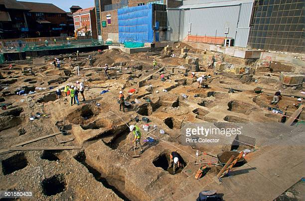 Shot of the Big Dig in Canterbury a major archaeological program