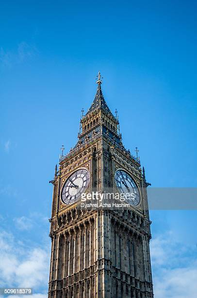 A shot of the famous clock tower in London The shot was taken in portrait orientation