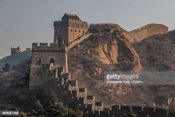 Shot Of The Great Wall Of China