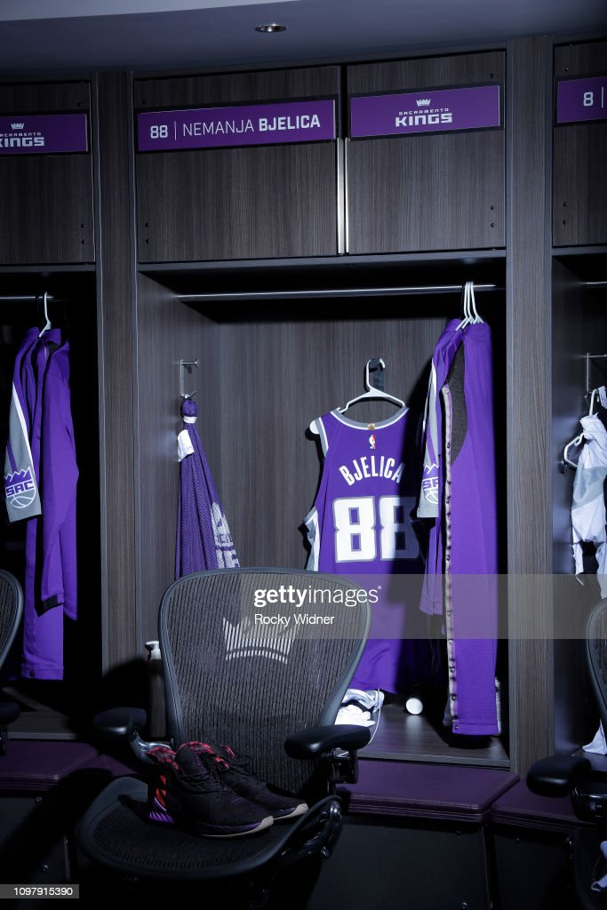 san francisco c2ea0 6b7f0 A shot of the jersey belonging to Nemanja Bjelica of the ...