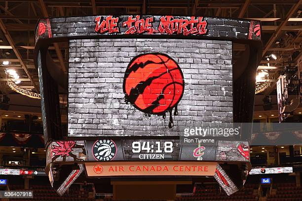A shot of the jumbotron with the courtdown to game three of the Eastern Conference Finals on May 21 2016 during the 2016 NBA Playoffs at the Air...