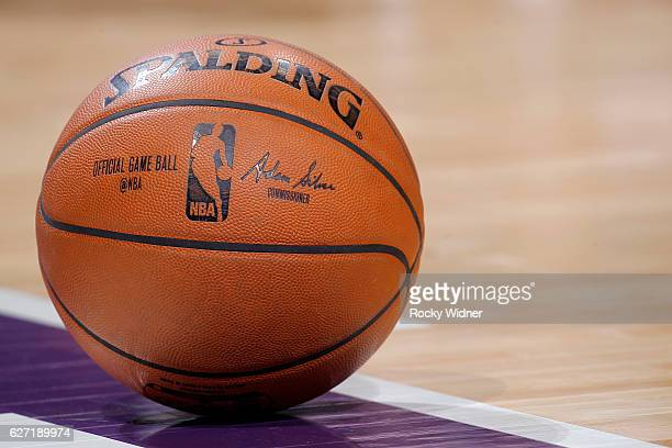 A shot of the Official NBA Spalding basketball during the game between the Oklahoma City Thunder and Sacramento Kings on November 23 2016 at Golden 1...