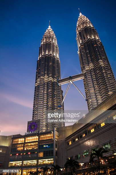 CONTENT] A shot of the Petronas Twin Towers in Kuala Lumpur Malaysia which connected to the high end shopping mall Suria KLCC