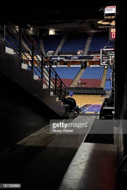A shot of the tunnel leading to the court of Sleep Train Arena prior to the game between the Los Angeles Clippers and Sacramento Kings on April 17...