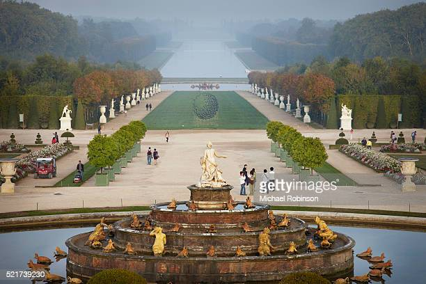 Shot over the Escaliers de Latone Garden of Versailles Paris France