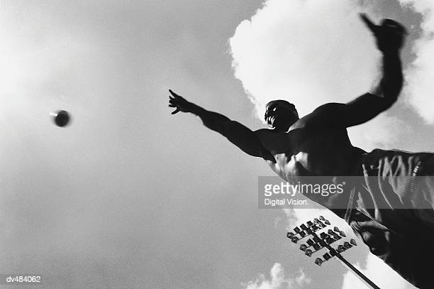 shot putter throwing shot - shot put stock pictures, royalty-free photos & images