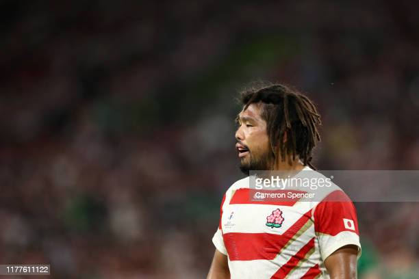 Shota Horie of Japan is seen during the Rugby World Cup 2019 Group A game between Japan and Ireland at Shizuoka Stadium Ecopa on September 28, 2019...