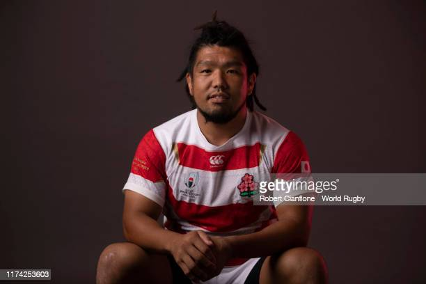Shota Horie of Japan poses for a portrait during the Japan Rugby World Cup 2019 squad photo call on September 12, 2019 in Tokyo, Japan.