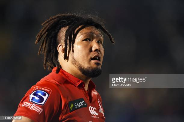 Shota Horie of the Sunwolves shows dejection after the round 11 Super Rugby match between Sunwolves and Highlanders at the Prince Chichibu Memorial...