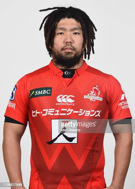 Shota Horie poses during the Sunwolves Super Rugby headshots session on February 01, 2019 in Tokyo, Japan.