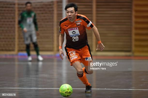 Shota Horigome of Shriker Osaka in action during the FLeague match between Shriker Osaka and Agleymina Hamamatsu at the Komazawa Gymnasium on January...