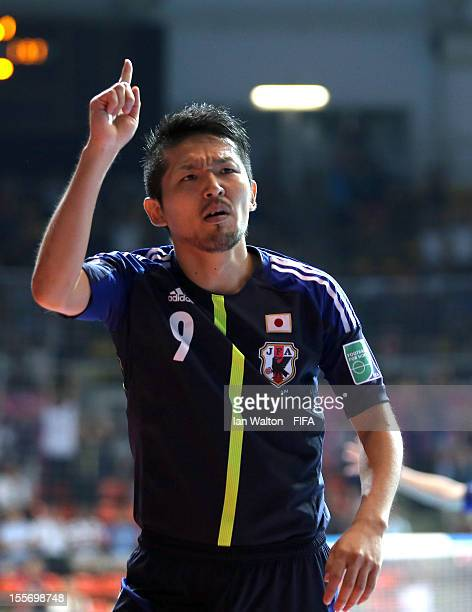 Shota Hoshi of Japan celebrates scoring a goal during the FIFA Futsal World  Cup Group C 6ef53ebfaf637