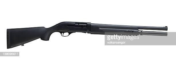 shotgun isolated - shotgun stock pictures, royalty-free photos & images