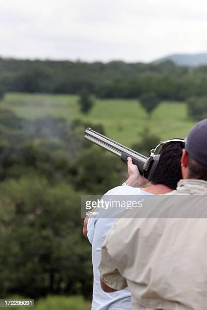 shotgun shooting - shotgun stock pictures, royalty-free photos & images