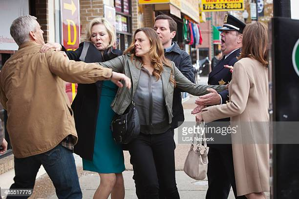 SIRENS Shotgun Wedding Episode 109 Pictured Lenny Clarke as Johnny's Dad Jean Smart as Johnny's Mom Jessica McNamee as Theresa Kelly Michael Mosley...