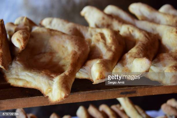 shoti puri, traditional georgian bread - georgian culture stock pictures, royalty-free photos & images