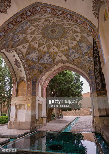 Shotor Galou-e-Shah Abbasi in Fin Garden on October 22, 2015 in Kashan, Isfahan Province, Iran.