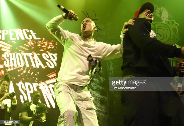 Shotta Spence performs during the SXSW Takeover Eardummers Takeover at ACL Live at the Moody Theatre during SXSW 2018 on March 16 2018 in Austin Texas