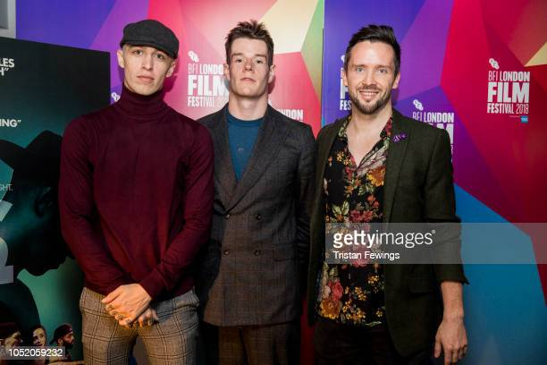 Shotty Horroh Connor Swindells and Ed Lilly attend the World Premiere of VS at Curzon Soho during the 62nd BFI London Film Festival on October 13...