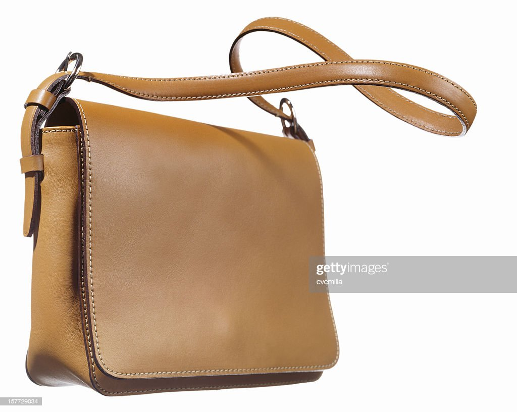 Shoulder bag on white. : Stock Photo