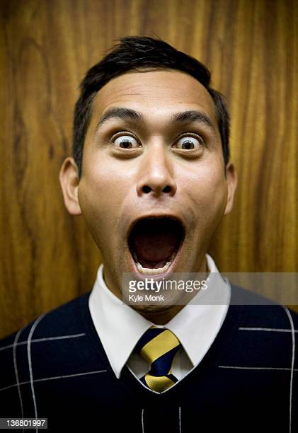 shouting mixed race businessman - mouth open stock pictures, royalty-free photos & images