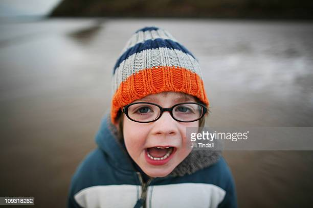 shouting on the beach - one boy only stock pictures, royalty-free photos & images