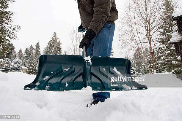 shovel - snow shovel stock photos and pictures