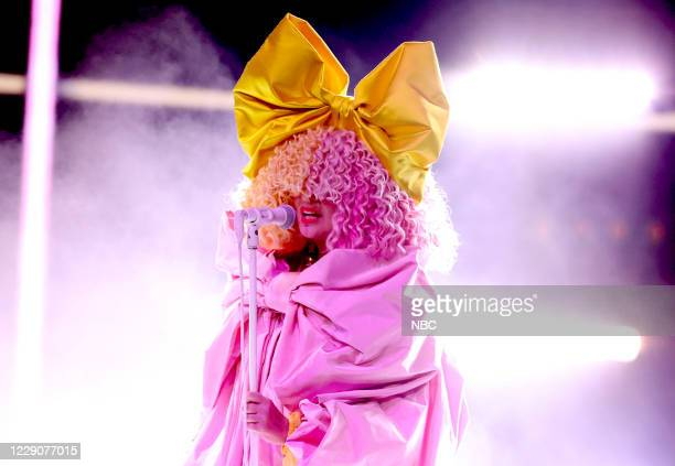Show -- 2020 BBMA at the Dolby Theater, Los Angeles, California -- Pictured: In this image released on October 14, Sia performs onstage for the 2020...