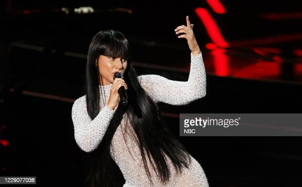 Show -- 2020 BBMA at the Dolby Theater, Los Angeles, California -- Pictured: In this image released on October 14, Alicia Keys performs onstage for...