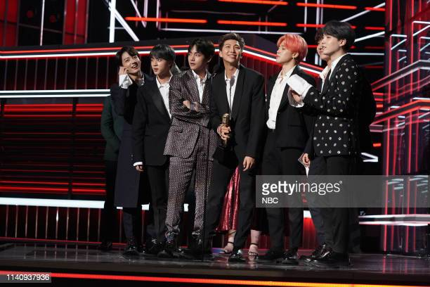 AWARDS Show Backstage 2019 BBMA at the MGM Grand Las Vegas Nevada Pictured BTS