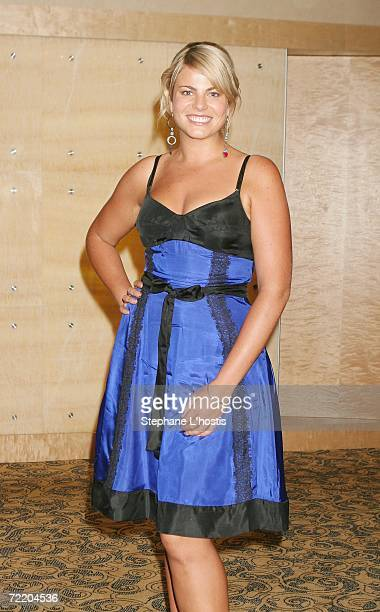 Show contender Fiona Falkiner arrives at the An Evening With Patch Adams Fundraiser at the Sofitel Wentworth on October 18, 2006 in Sydney,...