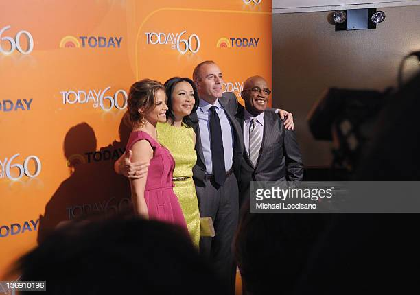 'TODAY' Show correspondents Natalie Morales Ann Curry Matt Lauer and Al Roker attend the 'TODAY' Show 60th anniversary celebration at The Edison...