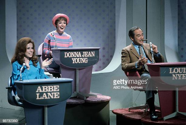 ASK Show Coverage 10/28/68 Abbe Lane Donna Jean Young Louis Nye on the Walt Disney Television via Getty Images Television Network game show Funny You...