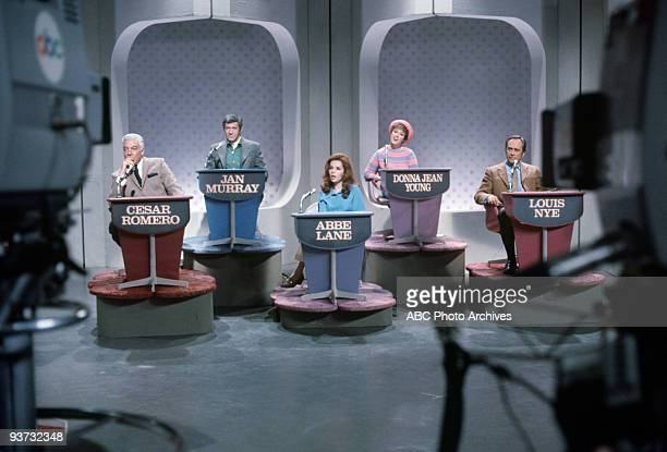 ASK Show Coverage 10/28/68 Cesar Romero Jan Murray Abbe Lane Donna Jean Young Louis Nye on the Walt Disney Television via Getty Images Television...
