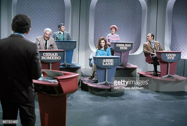 ASK Show Coverage 10/28/68 Host Lloyd Thaxton Cesar Romero Jan Murray Abbe Lane Donna Jean Young Louis Nye on the Walt Disney Television via Getty...