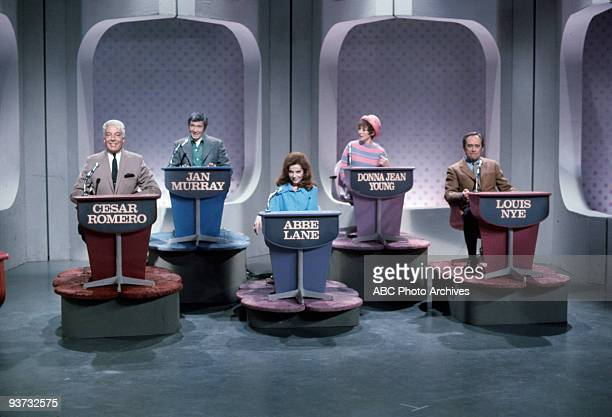 ASK Show Coverage 11/27/68 Cesar Romero Jan Murray Abbe Lane Donna Jean Young Louis Nye on the Walt Disney Television via Getty Images Television...