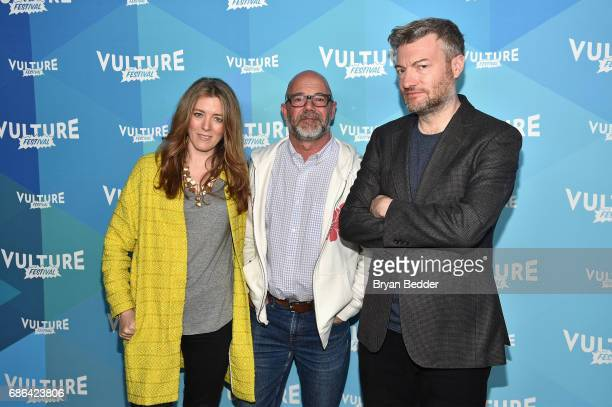 Show Creator Annabel Jones Editor Andrew Sullivan and Show Creator Charlie Booker attend at the Black Mirror panel during the 2017 Vulture Festival...