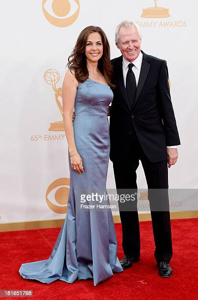 Show Creator Elise Doganieri and Executive Producer Bertram van Munster arrive at the 65th Annual Primetime Emmy Awards held at Nokia Theatre LA Live...