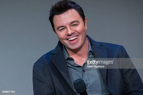 TV show creator Seth MacFarlane attends Meet the Musicians Seth MacFarlane and Joel McNeely at the Apple Store Soho on December 3 2014 in New York...