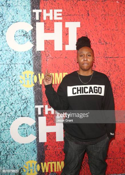 Show creator writer and executive producer Lena Waithe attends the premiere of Showtime's The Chi at Downtown Independent on January 3 2018 in Los...