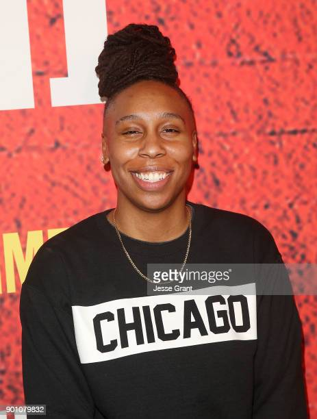 Show creator writer and executive producer Lena Waithe attends the premiere of Showtime's 'The Chi' at Downtown Independent on January 3 2018 in Los...