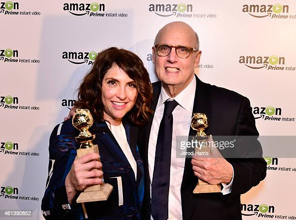 Show creator/director Jill Soloway and actor Jeffrey Tambor attend the 'Transparent' Cast and Crew Golden Globes Viewing Party at The London West...