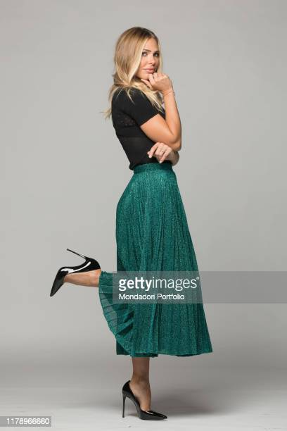 Show girl Ilary Blasi host of the reality show Grande Fratello VIP 2017. Rome, Italy. 29th August 2017