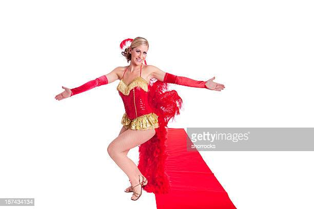 show girl on red carpet - showgirl stock pictures, royalty-free photos & images