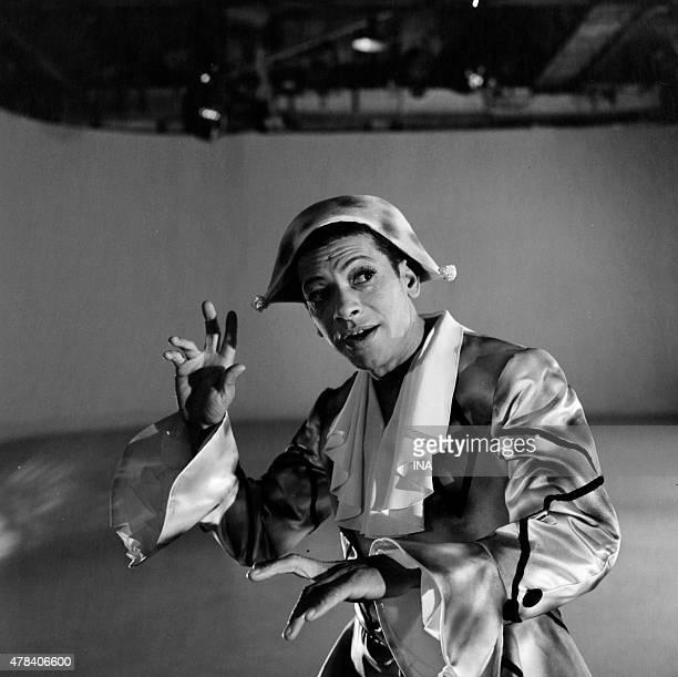 Henri Salvador disguised as Arlequin