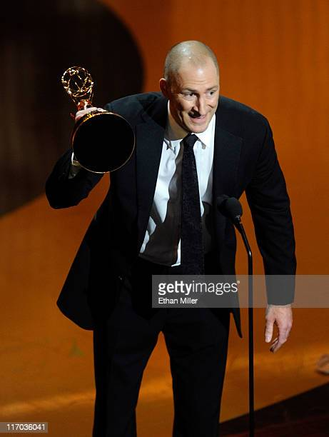 TV show host Ben Bailey accepts the Outstanding Game Show Host award onstage during the 38th Annual Daytime Entertainment Emmy Awards held at the Las...