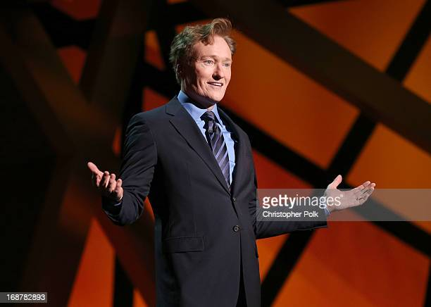 Show Host Conan O'Brien attends the 2013 TNT/TBS Upfront at Hammerstein Ballroom on May 15 2013 in New York City 23562_004_0921JPG