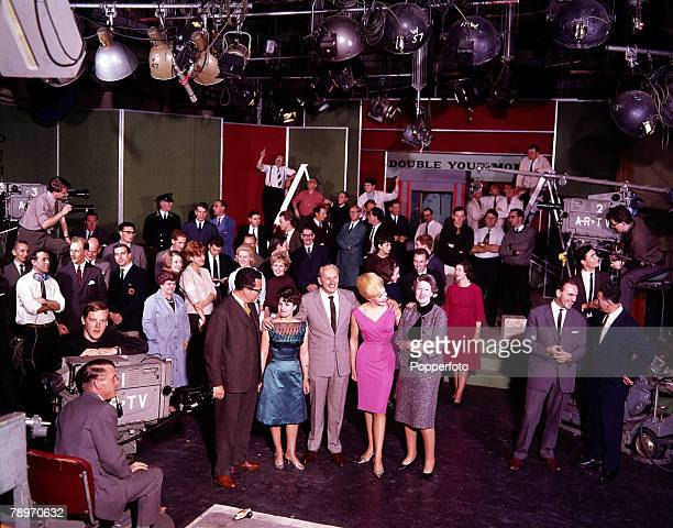 "Show host, Hughie Green and contestants on ITV's ""Double your Money"" programme"