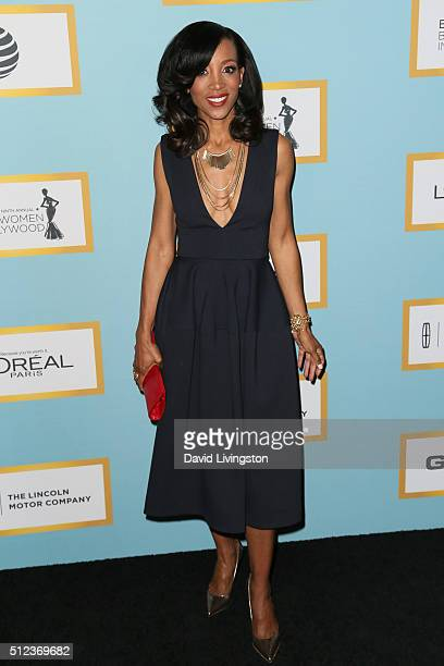 Show Host Shaun Robinson arrives at the Essence 9th Annual Black Women event in Hollywood at the Beverly Wilshire Four Seasons Hotel on February 25...